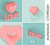 set of flat design love icons....   Shutterstock .eps vector #171980264