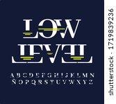 technology alphabet and effect...   Shutterstock .eps vector #1719839236