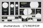 set of creative web banners of... | Shutterstock .eps vector #1719839539