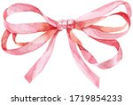 Watercolor Pink Bow. Beautiful...