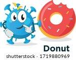 germ funny alien character...   Shutterstock .eps vector #1719880969