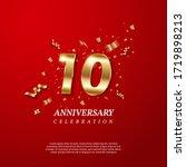 10th anniversary celebration.... | Shutterstock .eps vector #1719898213