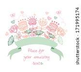 wedding graphic set  wreath ... | Shutterstock .eps vector #171995174
