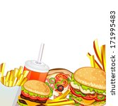 group of fast food products. | Shutterstock .eps vector #171995483
