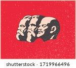 world communist leaders vector illustration
