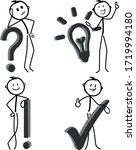 stick figure in action stickman ... | Shutterstock .eps vector #1719994180