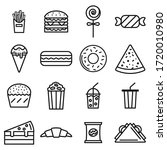 junk food thin line icon set ... | Shutterstock .eps vector #1720010980