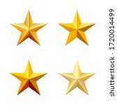 Set Of Gold Stars Made In...