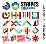 ribbon infographic design... | Shutterstock .eps vector #172001594