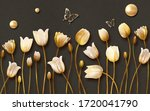 3d Mural Tulip Flowers With...