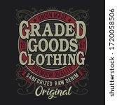 denim typography  tee shirt...   Shutterstock .eps vector #1720058506