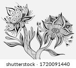 abstract tropic fantasy flowers ... | Shutterstock .eps vector #1720091440