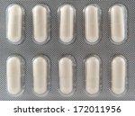 white capsule in blister pack... | Shutterstock . vector #172011956