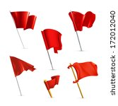 red flags icon set  bitmap copy | Shutterstock . vector #172012040