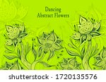 template from abstract dancing... | Shutterstock .eps vector #1720135576