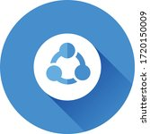 share   network button vector...