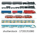 Passenger Trains. Subway Train...