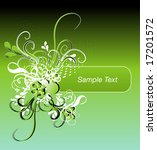 floral background for text | Shutterstock .eps vector #17201572