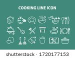 cooking line icons. boiling... | Shutterstock .eps vector #1720177153