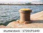 Old Rusty Metal Pier Or Dock...