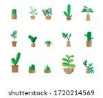 indoor landscape garden potted... | Shutterstock .eps vector #1720214569