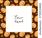 halloween square frame  scary... | Shutterstock .eps vector #1720214830