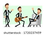 cartoon flat funny bearded rock ... | Shutterstock .eps vector #1720237459
