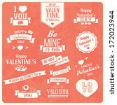 collection of valentine s day... | Shutterstock .eps vector #172023944