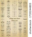 decorative calligraphic divider ... | Shutterstock .eps vector #1720244803