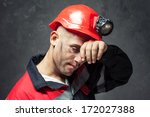 Portrait Of Tired Coal Miner...