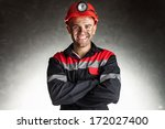 portrait of happy smiling coal... | Shutterstock . vector #172027400