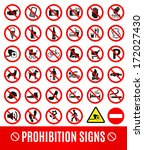 prohibition set symbol | Shutterstock . vector #172027430