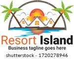 Resort Island Logo Icon Design...