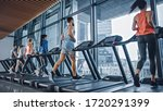 Athletic Muscular Man Running...