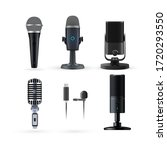 microphone isolated. realistic... | Shutterstock .eps vector #1720293550