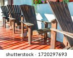 Empty Adirondack Arm Chairs In...
