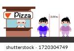 standing in line to buy food ...   Shutterstock .eps vector #1720304749
