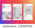social network interface app...