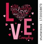 love everyday. girl graphic... | Shutterstock .eps vector #1720318873