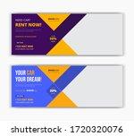 car taxi rent sale social media ... | Shutterstock .eps vector #1720320076