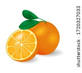 Isolated Realistic Orange With...
