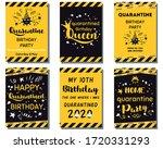 quarantine birthday set home... | Shutterstock .eps vector #1720331293