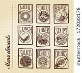 menu elements   dishes... | Shutterstock .eps vector #172033178