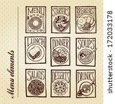 menu elements   dishes...   Shutterstock .eps vector #172033178