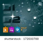 abstract technology background. ... | Shutterstock .eps vector #172033700