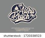aloha beach. hand made script... | Shutterstock .eps vector #1720338523