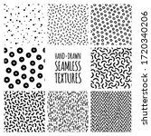 set of hand drawn seamless... | Shutterstock .eps vector #1720340206