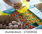 tomatoes at the farmer's market | Shutterstock . vector #17203426