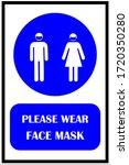 wear face mask  regulatory... | Shutterstock .eps vector #1720350280