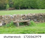 Stone Bench On The Roadside...